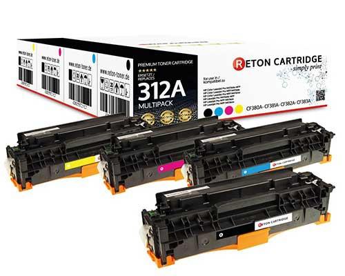 4 Original Reton Toner kompatibel zu hp 312A / CF380A,CF381A,CF382A,CF383A