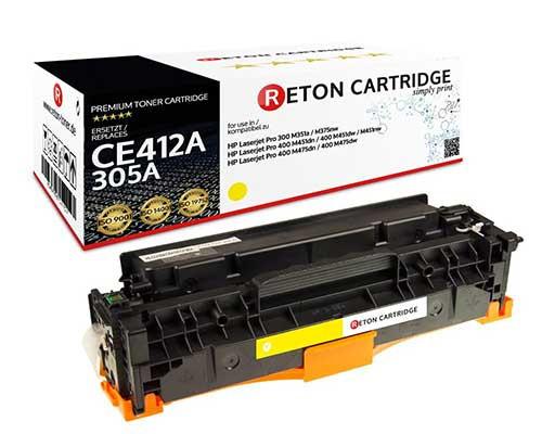 Original Reton Toner +35% mehr Druckleistung ersetzt hp CE412A / 305A gelb
