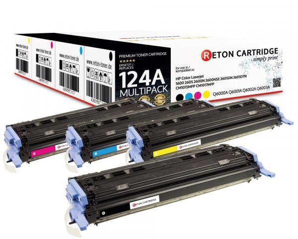 4 Original Reton Toner ersetzen HP Q6000A,Q6001A,Q6002A,Q6003A