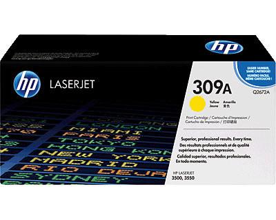 HP 309A Gelb Originaltoner (Q2672A)