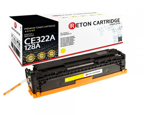 Original Reton Toner ersetzt hp 128A / CE322A gelb