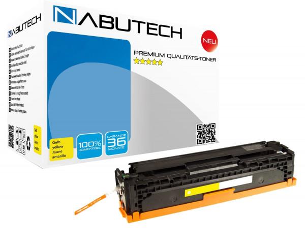 NABUTECH Toner +35% mehr Druckleistung ersetzt Canon 718Y gelb , 3.700 Seiten