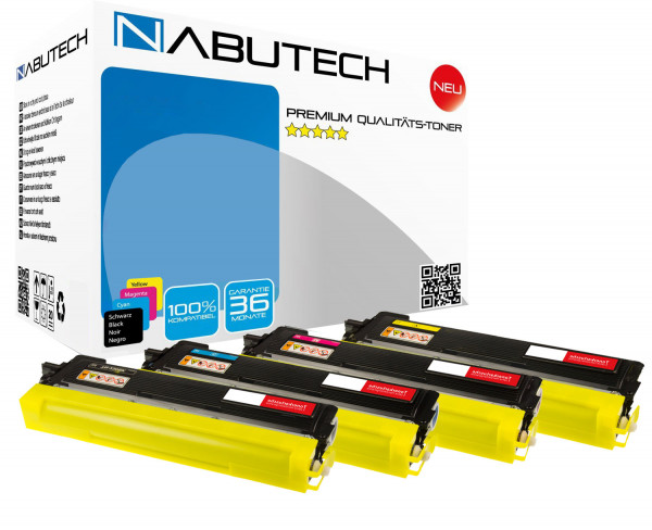 4 Hochleistungs-Toner +80% mehr Reichweite ersetzen Brother TN-230 TN230