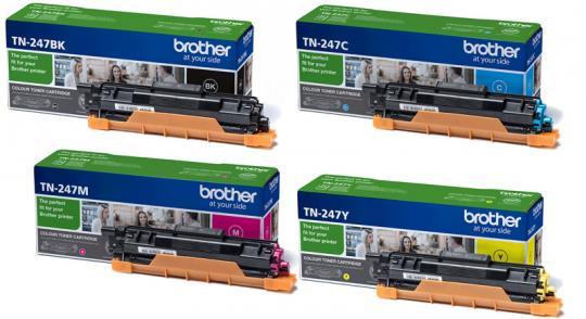 Set Original Brother Toner TN247BK+TN247C+TN247M+TN247Y