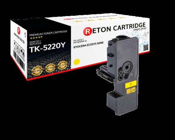 Original Reton Toner | 50% höhere Druckleistung | als Ersatz für Kyocera TK-5220Y