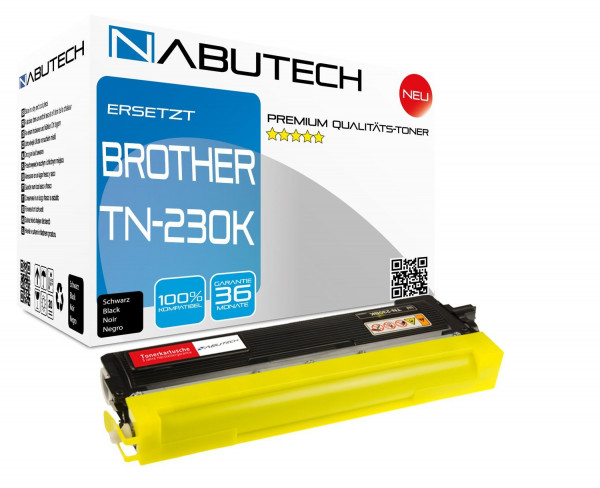 Hochleistungs-Toner +80% mehr Druckleistung ersetzt Brother TN-230BK