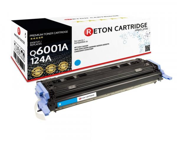 Original Reton Toner ersetzt HP 124A / Q6001A cyan