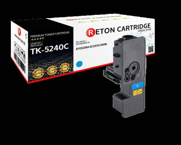 Original Reton Toner | 50% höhere Druckleistung | ersetzt Kyocera TK-5240C Cyan