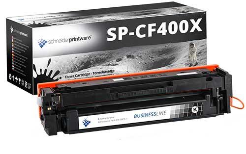 Hochleistungs-Toner 50% höhere Leistung ersetzt HP CF400X schwarz
