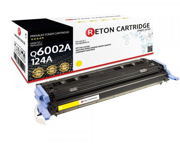 Original Reton Toner ersetzt HP 124A / Q6002A gelb