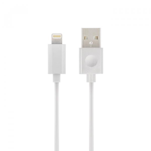 Forever Lightning Ladekabel zertifiziert (Made for iPod iPhone iPad) Weiß