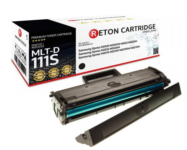 Original Reton Toner ersetzt Samsung MLT-D111S schwarz