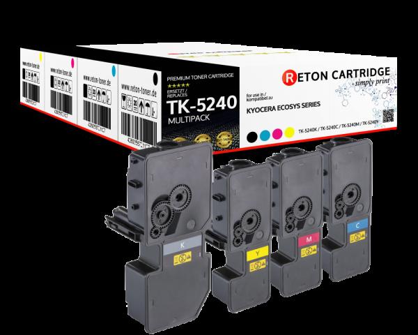 Kompatibel Toner 50% mehr Leistung für Kyocera TK-5240 Multipack