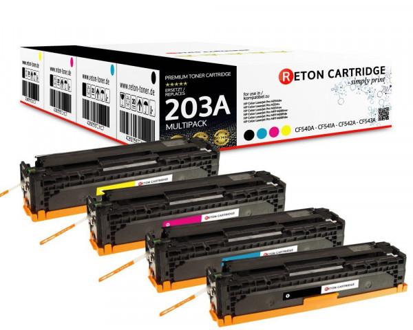 4 Reton Toner |40% höhere Druckleistung | kompatibel zu HP 203A