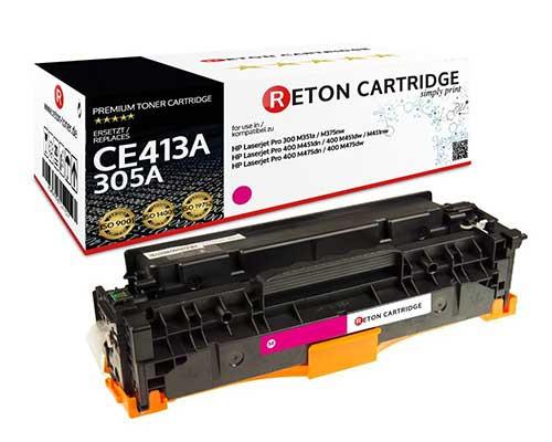 Original Reton Toner +35% mehr Druckleistung ersetzt hp CE413A / 305A magenta
