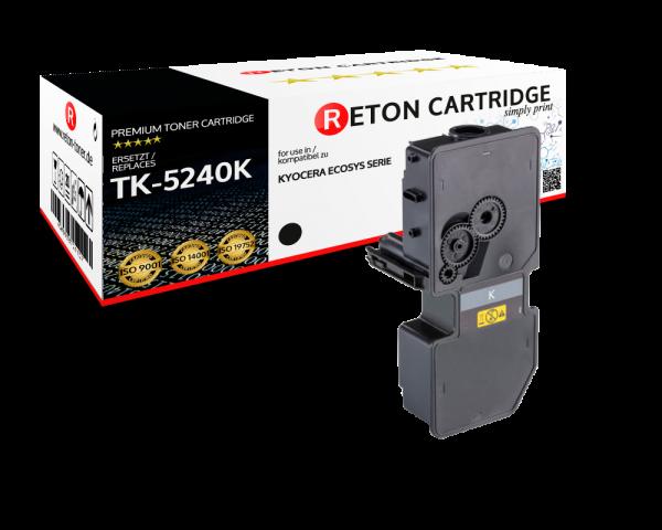 Original Reton Toner | 50% höhere Druckleistung | ersetzt Kyocera TK-5240K schwarz