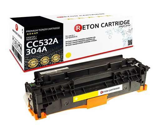 Original Reton Toner kompatibel zu hp 304A / CC532A gelb