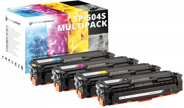 Kompatibel Toner 35% mehr Leistung für Samsung CLT-P504C P504C Multipack