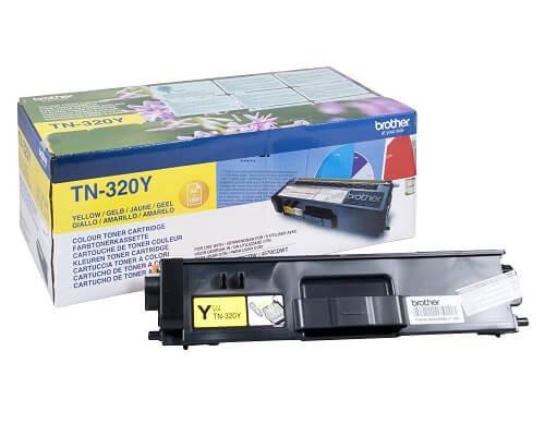 Brother Original-Toner TN-320Y (1.500 Seiten) gelb