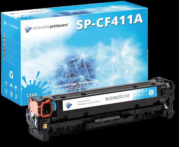 Hochleistungs Toner + 30% mehr Leistung Kompatibel zu HP CF411A Cyan