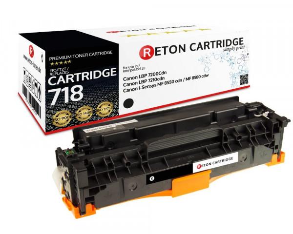 Original Reton Toner ersetzt Canon 718BK schwarz, 3.400 Seiten