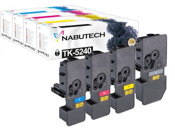 4 Toner ersetzen Kyocera TK-5240K TK-5240C TK-5240M TK-5240Y