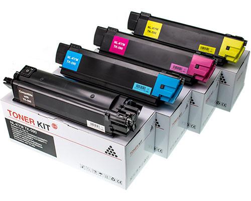 4 Fabrikneuer Toner ersetzen Kyocera TK-590BK,TK-590C,TK-590M,TK-590Y