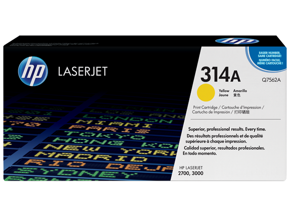 HP 314A Gelb Originaltoner Q7562A