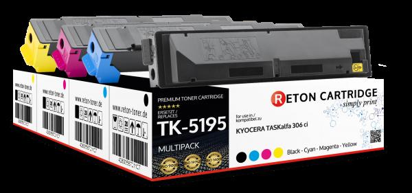 4x Original Reton für Kyocera TK-5195