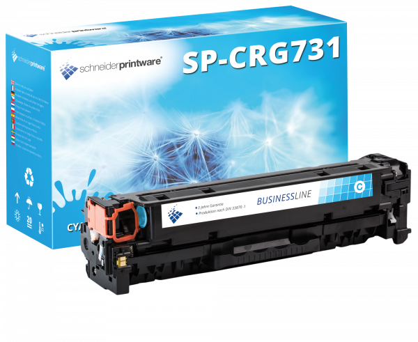 Schneider Printware Toner +35% mehr Druckleistung ersetzt Canon 731C Cyan