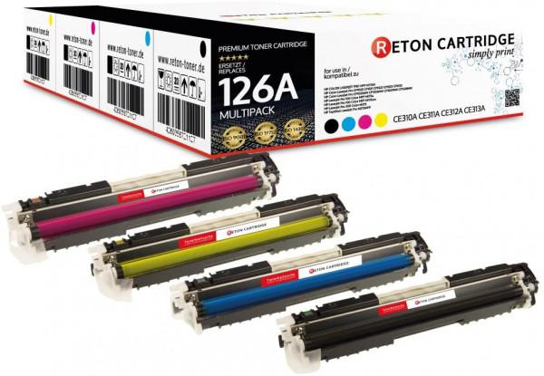 Toner +40% mehr Druckleistung ersetzt HP 126A Multipack