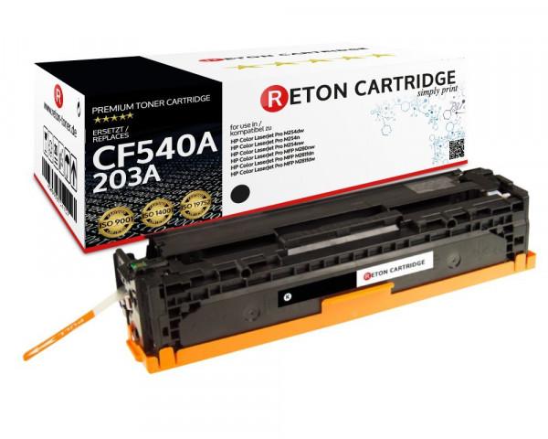 Original Reton Toner |40% höhere Druckleistung | ersetzt HP 203A, CF540A schwarz