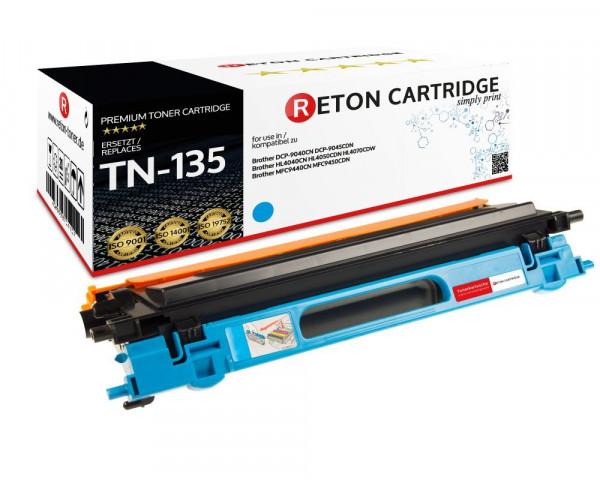 Original Reton Toner ersetzt Brother TN-135C cyan