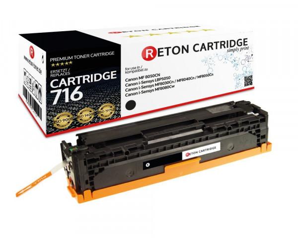 Reton Toner +35% mehr Druckleistung ersetzt Canon 716BK schwarz, 2.900 Seiten