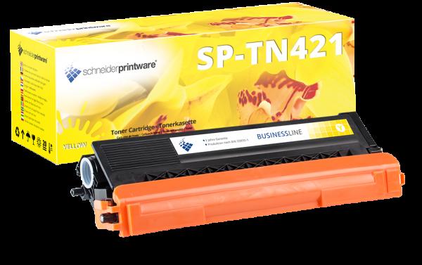 Schneider Printware Toner | 30% mehr Leistung | als Ersatz für Brother TN-421Y