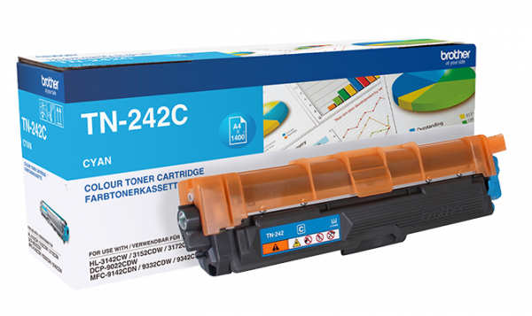 Original Brother TN-242C Toner Cyan