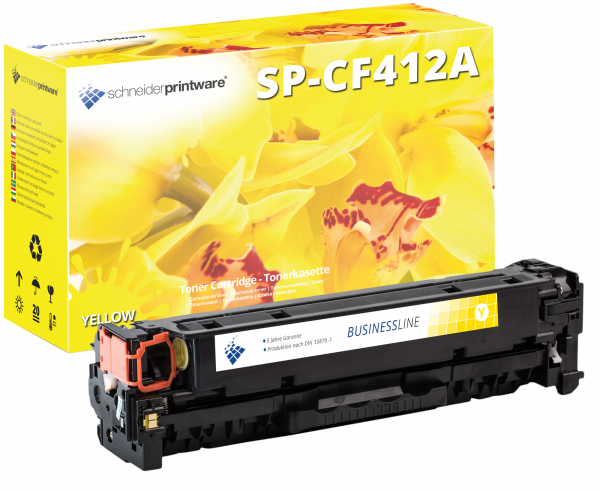 Hochleistungs Toner +30% mehr Leistung Kompatibel zu HP CF412A gelb