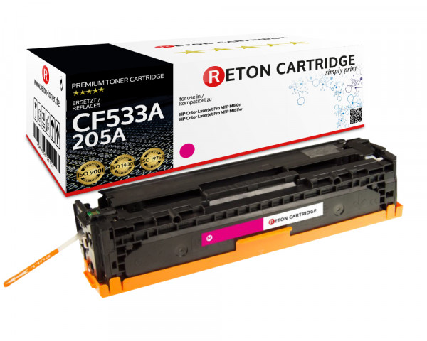 Original Reton Toner | 40% höhere Druckleistung | ersetzt HP 205A, CF533A magenta