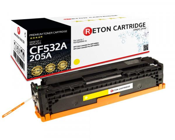 Original Reton Toner | 40% höhere Druckleistung | ersetzt HP 205A, CF532A gelb