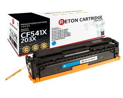 Original Reton Toner |40% höhere Druckleistung | ersetzt HP 203X, CF541X cyan
