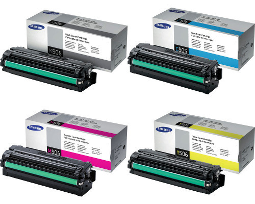 4 Samsung Original-Toner P506L (6.000 Seiten schwarz, 3.500 Farbseiten)