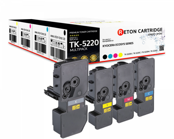 Kompatibel Toner +50% mehr Leistung ersetzt Kyocera TK-5220 Multipack