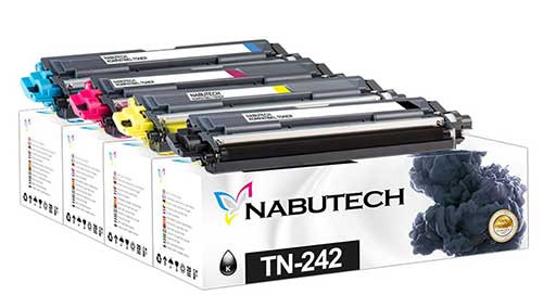 4 Nabutech Toner ersetzen Brother TN-242BK,TN-242C,TN-242M,TN-242Y