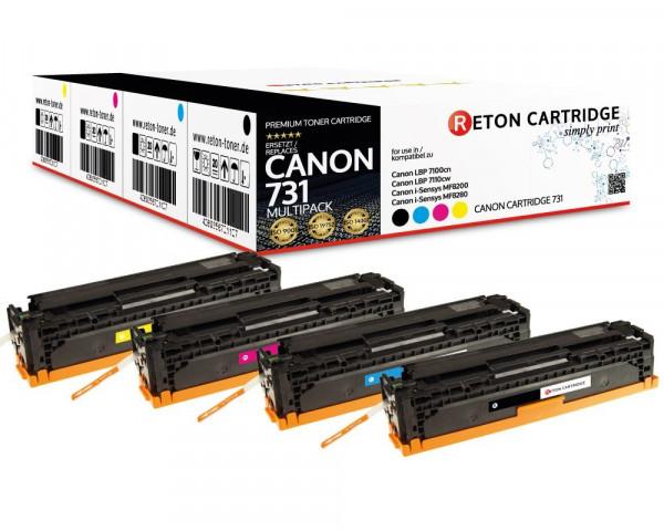 4 Original Reton Toner ersetzen Canon 731H,731C,731M,731Y
