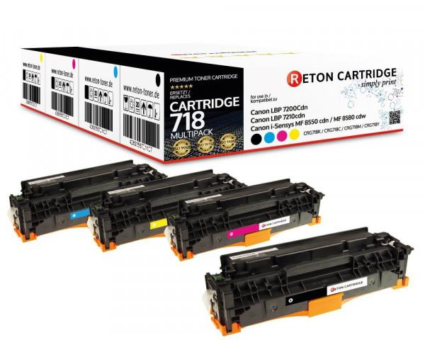 4 Original Reton Toner ersetzen Canon 718BK,718C,718M,718Y
