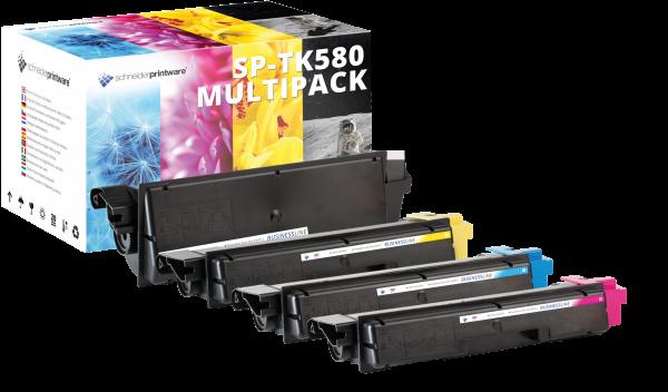 Kompatibel Toner 100% mehr Leistung für Kyocera TK-580 TK580 Multipack