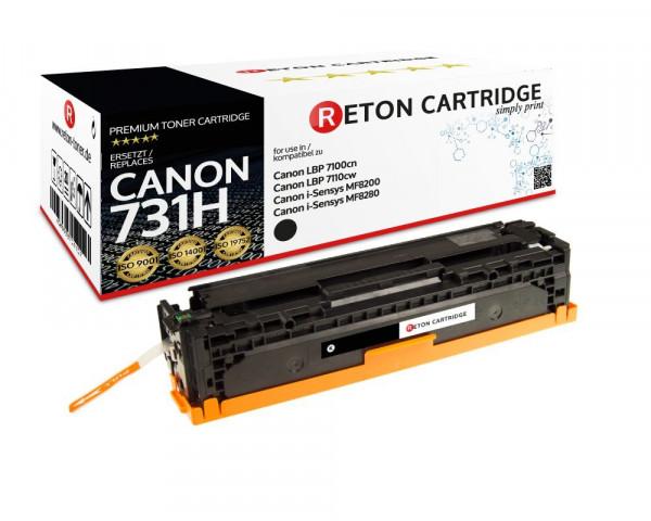 Original Reton Toner ersetzt Canon 731H schwarz, 2.400 Seiten