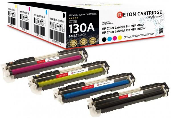 Kompatibel Toner +40% mehr Leistung 130A für HP Color LaserJet Pro MFP M177fw -Set