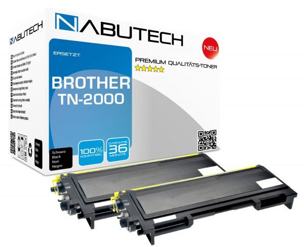 2 Nabutech Toner ersetzen TN-2000 (4.000 Seiten)