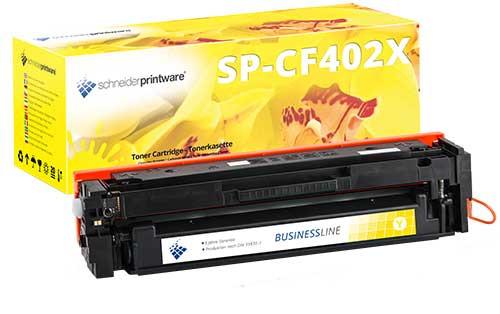 Hochleistungs-Toner 50% höhere Leistung ersetzt HP CF402X gelb